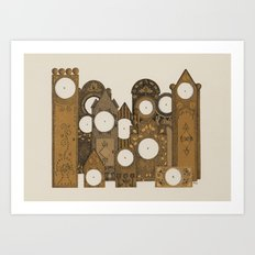 Points in time Art Print