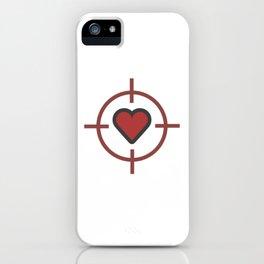 Heart Sniper Cute Valentines Day Lover Gift Idea Design iPhone Case