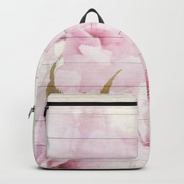 Romantic Vintage Shabby Chic Floral Wood Pink Backpack