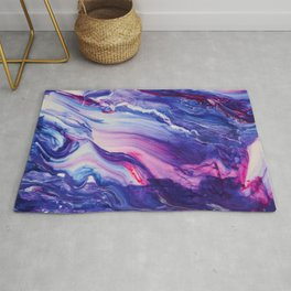 Tranquil Swirl Hybrid- Painting Rug