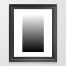 Black to White Gradient Framed Art Print