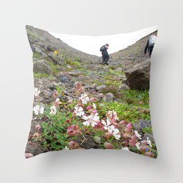 Watercolor People in Nature, OS, Adult 20, Hauganes, Iceland Throw Pillow