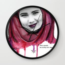 "SKAM ""fear spreads..."" Wall Clock"