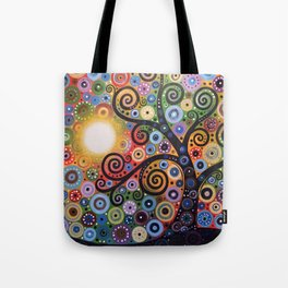 Abstract Art Landscape Original Painting ... Memory of Magic Tote Bag