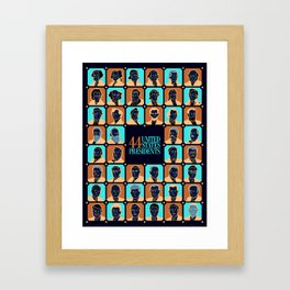 44 U.S. Presidents Framed Art Print