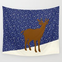reindeer Wall Tapestries featuring Reindeer by Mr & Mrs Quirynen