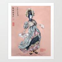 kenzo Art Prints featuring Kenzo inspired  by Leychenko