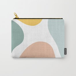 Pastel organic shape pattern Carry-All Pouch