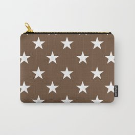 Stars (White/Coffee) Carry-All Pouch