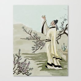Chinese poet Canvas Print