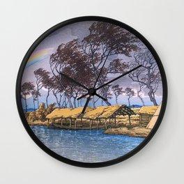 Travel Souvenir Third Collection, Kaga, Hatta - Digital Remastered Edition Wall Clock