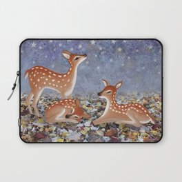 whitetail fawns under the stars Laptop Sleeve
