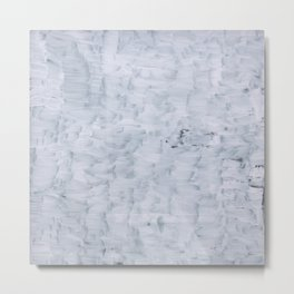 minimal abstract white paint brush texture pattern Metal Print