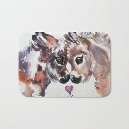 Donkeys in Love Bath Mat