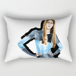 Fashion #16. Long-haired girl in fashionable dress-transformer Rectangular Pillow