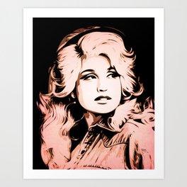 Dolly Parton   Pop Art Art Print