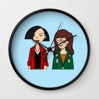 daria Wall Clocks featuring Daria & Jane by Marianna