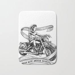 Motorcycle Indian shirt for men native american Bath Mat