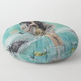 Oh the humanity Floor Pillow