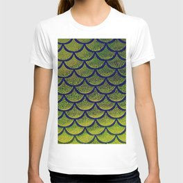 Chartreuse Cobalt Scales T-shirt