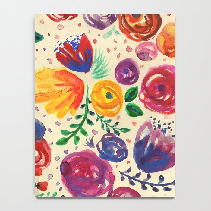 Summer Fruits Floral Notebook