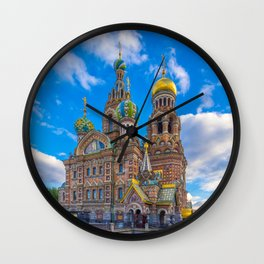 Church of Our Savior on Spilled Blood Travel Photo Wall Clock