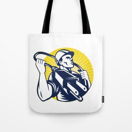 Funny Electrician Gift Lineman Gift Electrical Plug Tote Bag