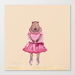 Capybara Ballerina  Canvas Print