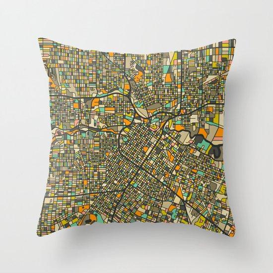 HOUSTON MAP Throw Pillow