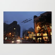 Foggy Canvas Print