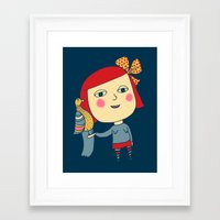 lolita Framed Art Prints featuring lolita by sylvie demers