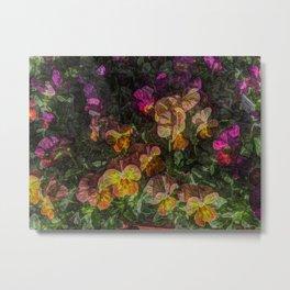 Violas on Table Metal Print