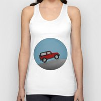 jeep Tank Tops featuring Jeep Jeep by rochaStuff