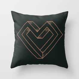 le coeur impossible (nº 6) Throw Pillow