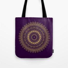 Harmony Circle of Gold on Purple Tote Bag