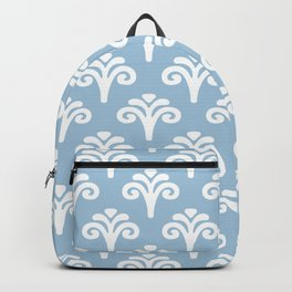 Floral Pattern Pale Blue 243 Backpack