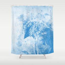 spotted madagascar fody wswb Shower Curtain