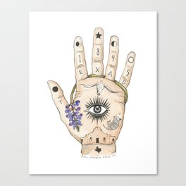 Texas Palmistry Canvas Print