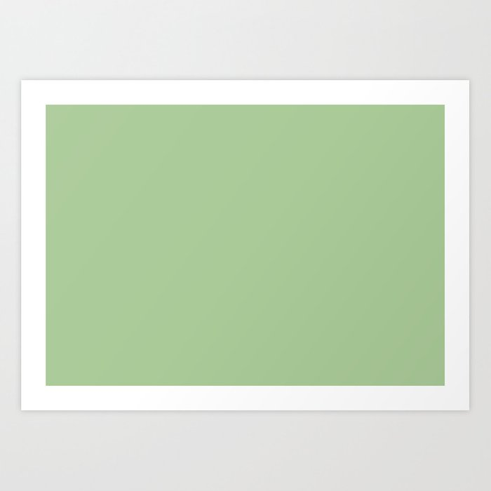 Nile Green Pantone Fashion Color Spring Summer 2018 London Solid Art Print