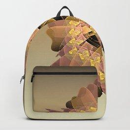 Gold Fractal Shield Backpack