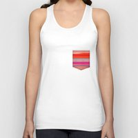 stripes Tank Tops featuring stripes by spinL
