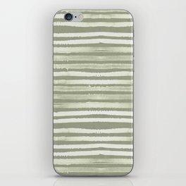 Simply Shibori Stripes Green Tea and Lunar Gray iPhone Skin