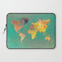 world map 103 #worldmap #map Laptop Sleeve