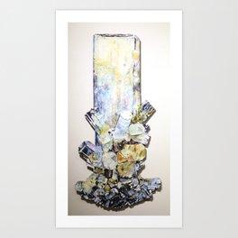 Aquamarine Schorl Art Print