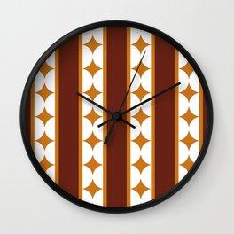 Bars and Stars,mocca Wall Clock