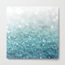 MERMAID GLITTER - MERMAIDIANS AQUA Metal Print