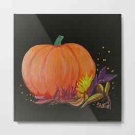Autumn Pumpkin Metal Print
