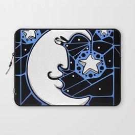 Moon and Stars Trellis Laptop Sleeve