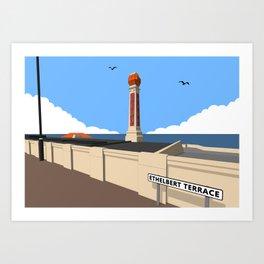 Cliftonville Lido, Margate Art Print