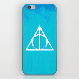 Deathly Hallows - Blue iPhone Skin